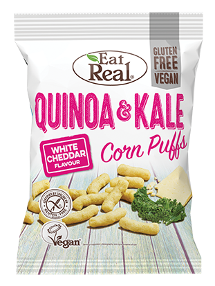 Eat Real Quinoa & Kale Puff - White Cheddar 4oz. - East Side Grocery