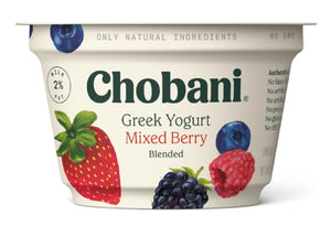 Chobani Greek Yogurt 2% Mixed Berry 5.3oz - East Side Grocery