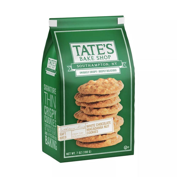 Tates Cookies White Chocolate Macadamia 7oz. - East Side Grocery