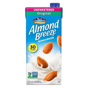 Almond Breeze Almond  Milk  Original Unsweetened - 32oz. - East Side Grocery