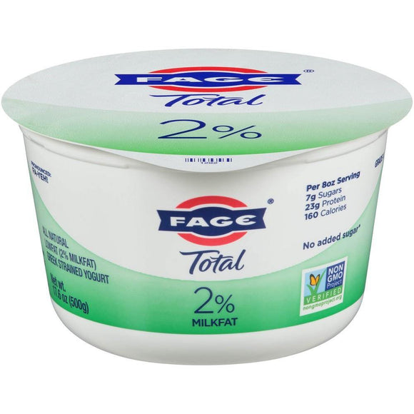 Fage Total Yogurt 2% Plain 17.6oz. - East Side Grocery
