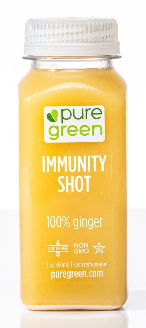 Pure Green Immunity Shot 2oz. - East Side Grocery