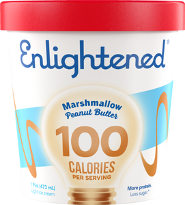 Enlightened Ice Cream Marshmallow Peanut Butter 1 Pint - East Side Grocery