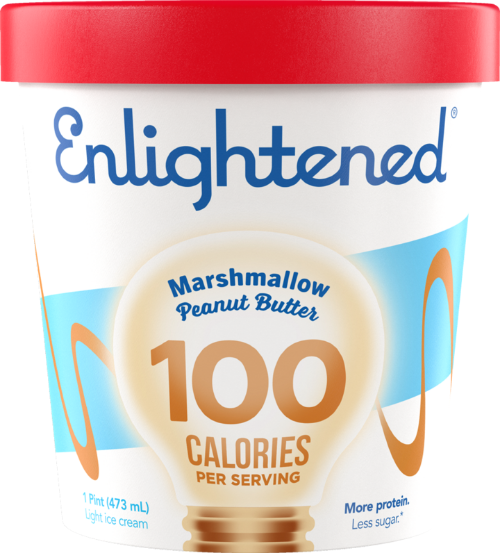 Enlightened Ice Cream Marshmallow Peanut Butter 1 Pint