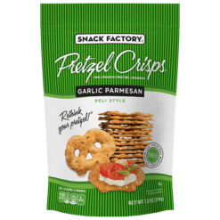 Pretzel Crisps Garlic Parmesan  7.2oz. - East Side Grocery
