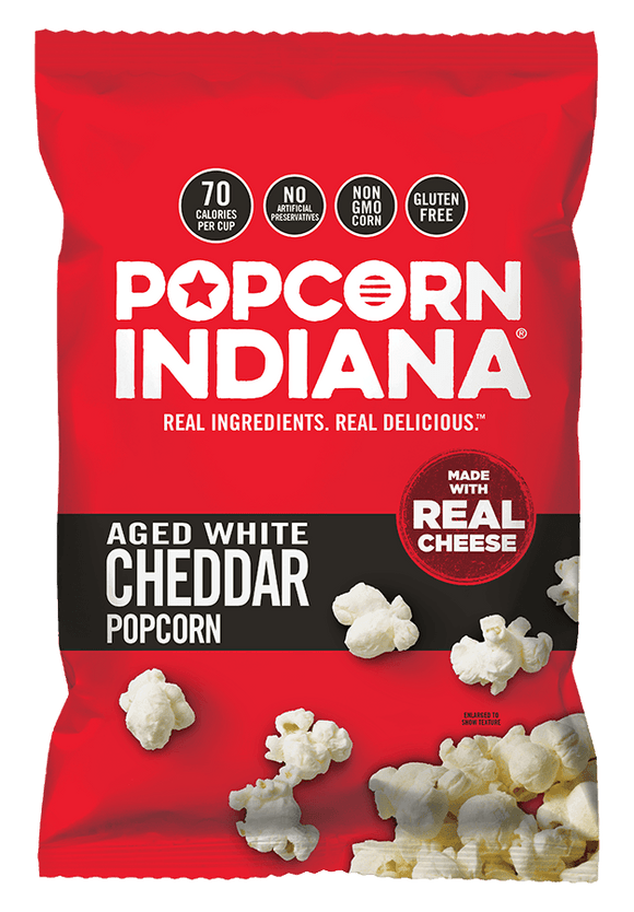 Popcorn Indiana Aged White Cheddar 3oz. - East Side Grocery