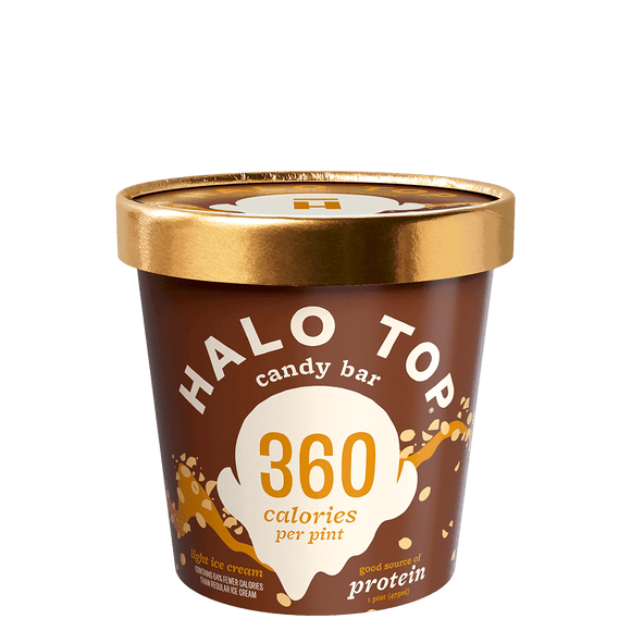 Halo Top Ice Cream Candy Bar 16oz. - East Side Grocery