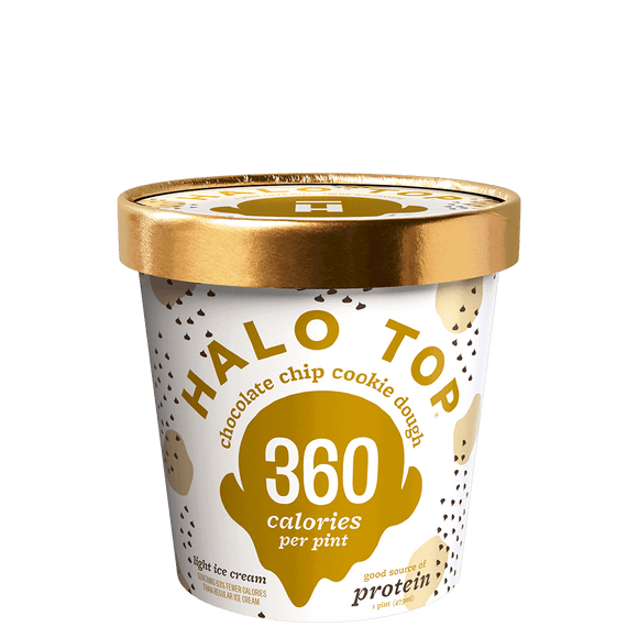 Halo Top Ice Cream Chocolate Chip Cookie Dough 16oz. - East Side Grocery