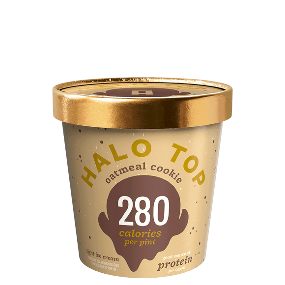 Halo Top Ice Cream Oatmeal Cookie 16oz. - East Side Grocery