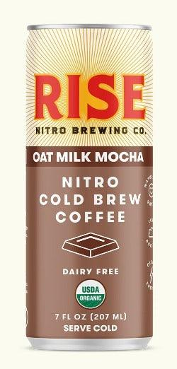 Rise Brewing Cold Brew Oat Milk Mocha Latte  7oz. Can - East Side Grocery