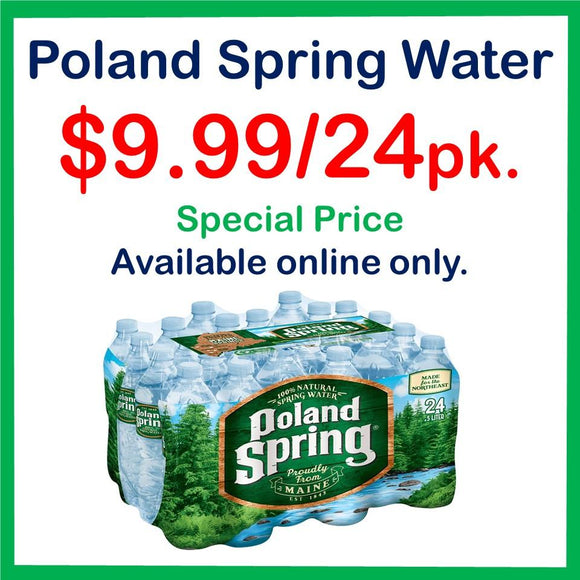 Poland Spring Water 16oz. - 24 Pack Special