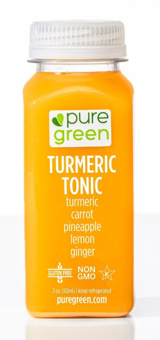Pure Green Turmeric Tonic Shot 2oz. - East Side Grocery