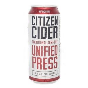 Citizen Cider Unified Press 16oz. Can - East Side Grocery