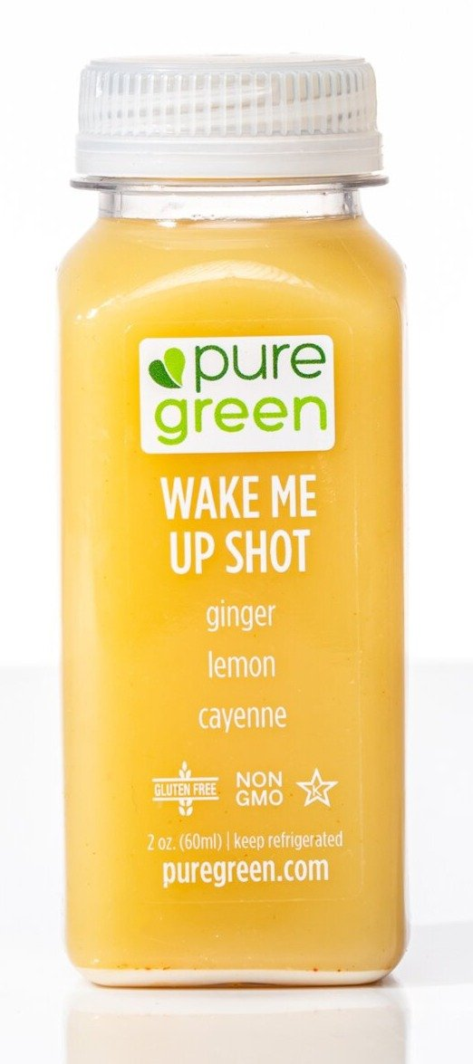 Pure Green Wake Me Up Shot 2oz. - East Side Grocery