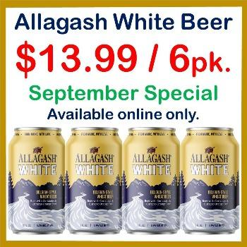Allagash White 6 Pack 12oz. Can Special