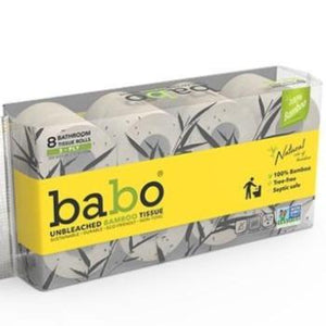 Babo Bamboo Bath Tissue 200 Sheets 8 Pack