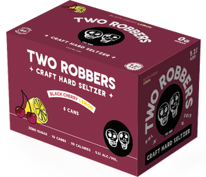 Two Robbers Hard Seltzer Black Cherry Lemon 12oz. Can - East Side Grocery