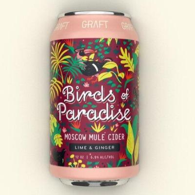 Graft Cider Bird of Paradise 12oz. Can - East Side Grocery