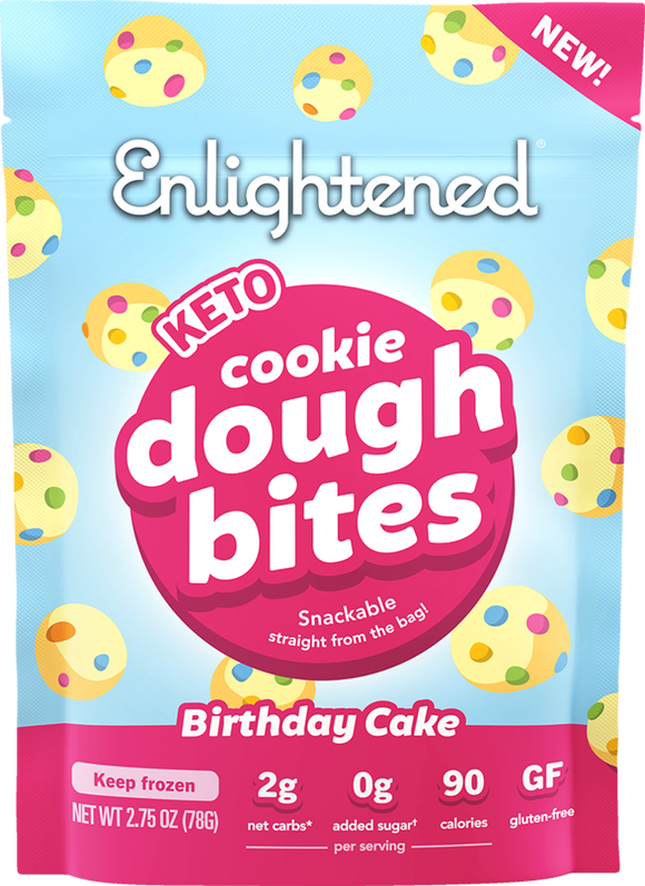 Enlightened Cookie Dough Bites Birthday Cake 2.75oz. - East Side Grocery