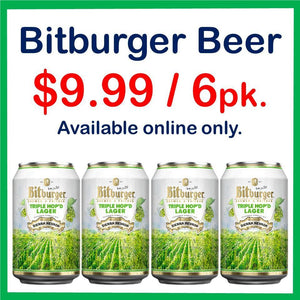 Bitburger Triple Hop'd Lager 6 Pack 12oz. Can Special