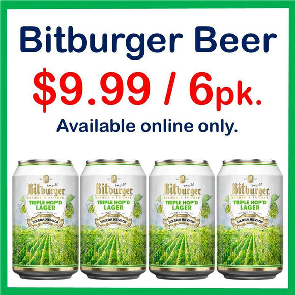 Bitburger Triple Hop'd Lager 6 Pack 12oz. Can Special - East Side Grocery