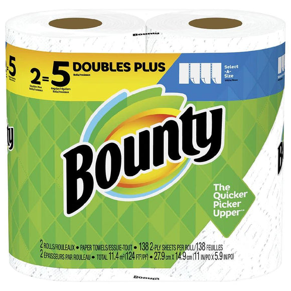 Bounty Paper Towels Select-A-Size Mega Roll 2 Pack