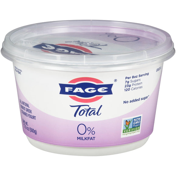 Fage Total Yogurt 0% Plain 17.6oz. - East Side Grocery