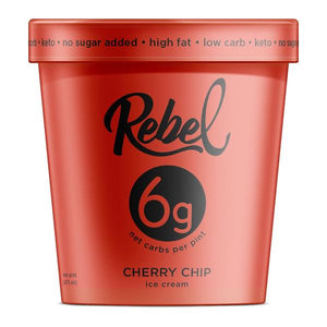 Rebel Ice Cream Cherry Chip Pint - East Side Grocery