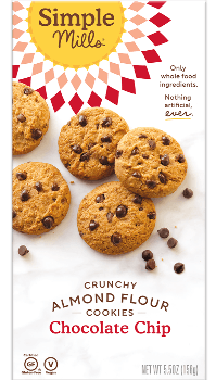 Simple Mills Crunchy Chocolate Chip Cookies 5.5oz. - East Side Grocery