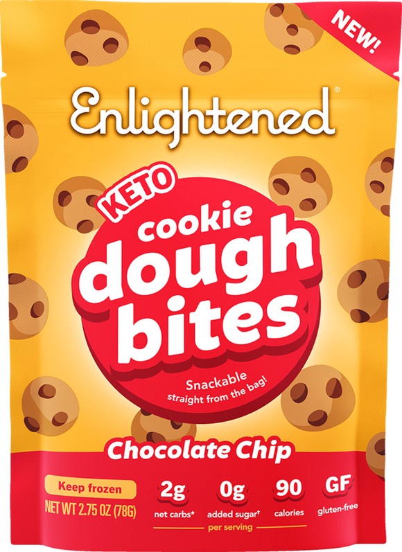 Enlightened Cookie Dough Bites Chocolate Chip 2.75oz.