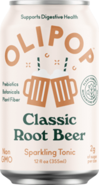 Olipop Sparkling Tonic Classic Root Beer 12oz. Can