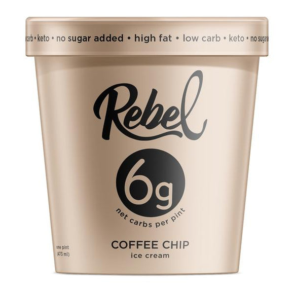 Rebel Ice Cream Coffee Chip Pint - East Side Grocery