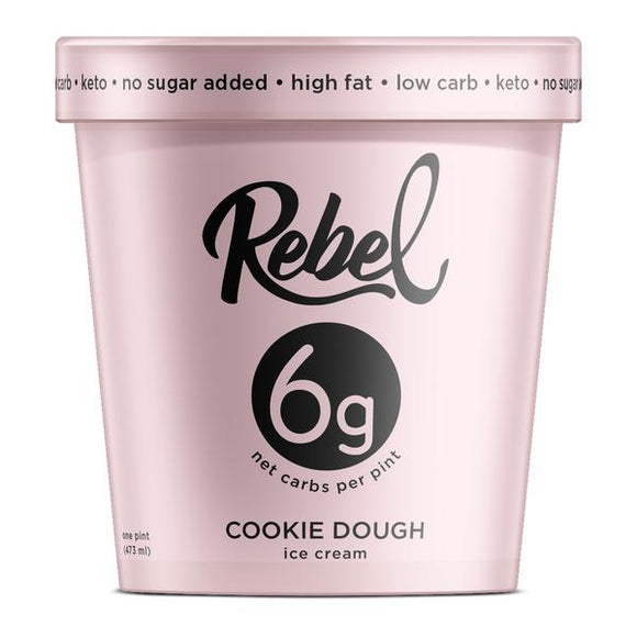 Rebel Ice Cream Cookie Dough Pint - East Side Grocery