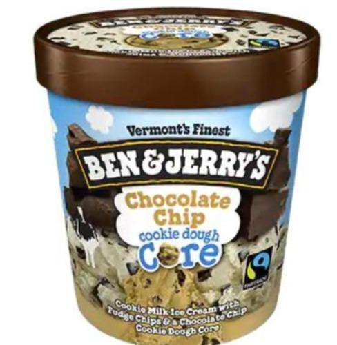 Ben & Jerry's Ice Cream Choc Chip Cookie Dough Core 16oz. - East Side Grocery