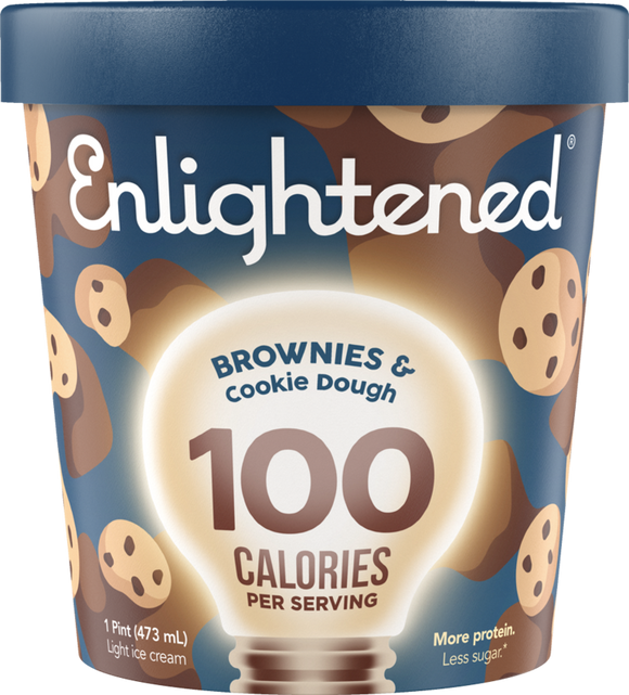 Enlightened Ice Cream Brownies & Cookie Dough 1 Pint - East Side Grocery