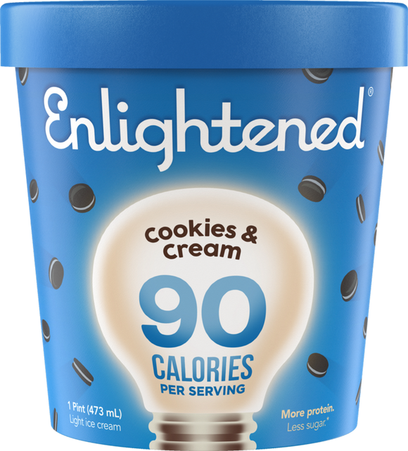 Enlightened Ice Cream Cookies & Cream 1 Pint - East Side Grocery