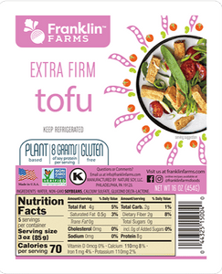 Franklin Farms Tofu Extra Firm 16oz. - East Side Grocery