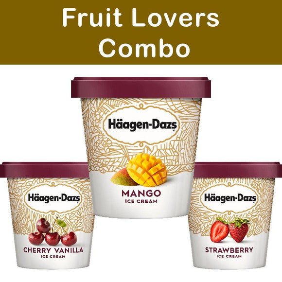 Haagen Dazs Ice Cream Fruit Lovers Combo 3 Pack