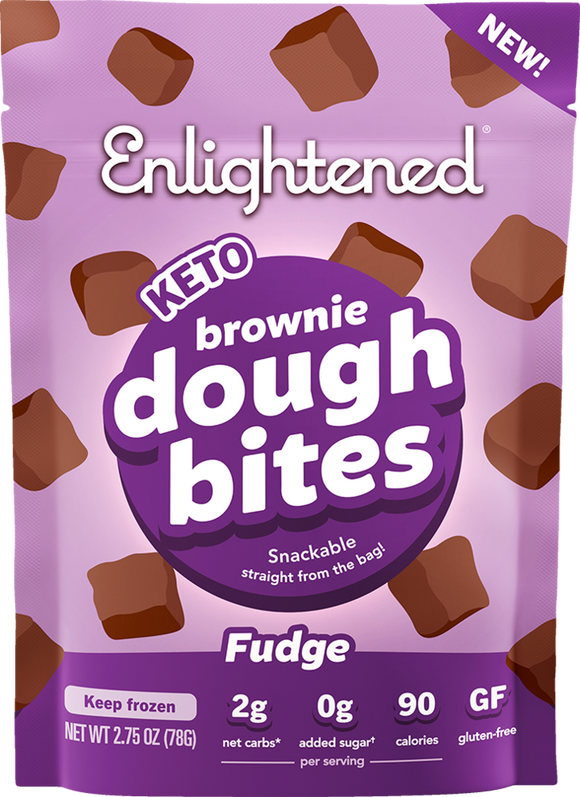 Enlightened Cookie Dough Bites Fudge Brownie 2.75oz.