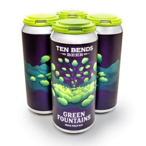 Ten Bends Green Fountains IPA 16oz. Can - East Side Grocery