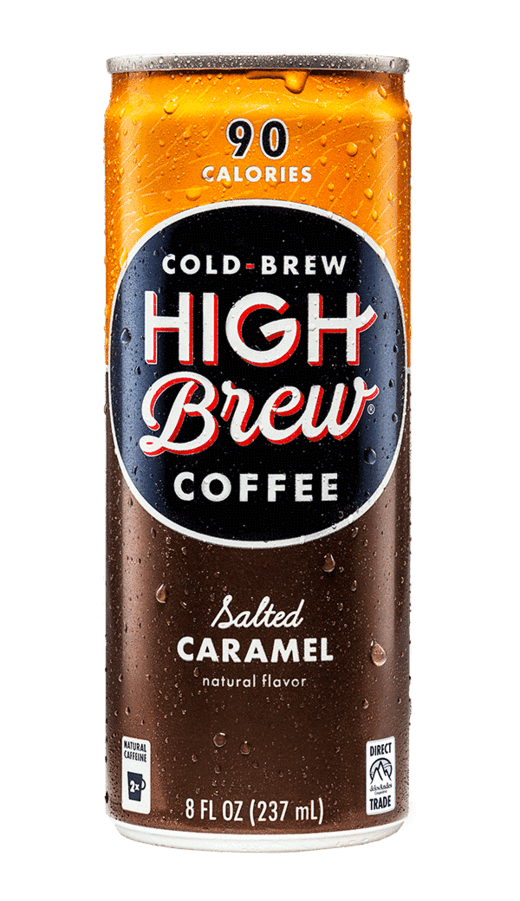 High Brew Cold Brew Coffee Salted Caramel 8oz. Can - East Side Grocery