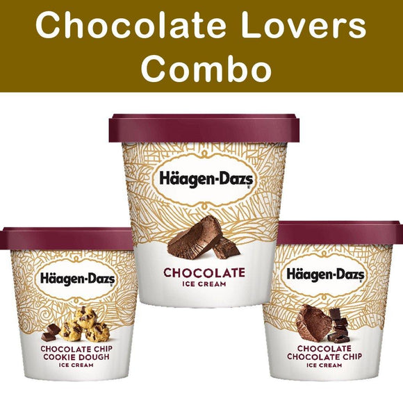 Haagen Dazs Ice Cream Chocolate Lovers Combo 3 Pack