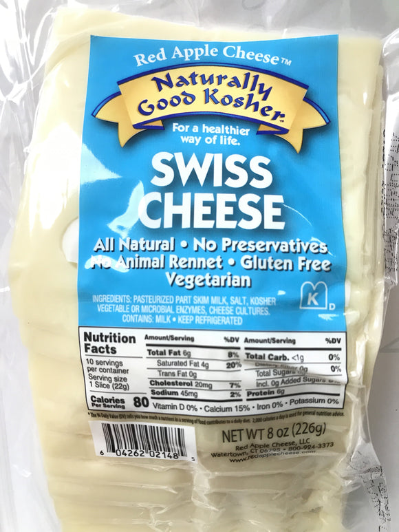 Naturally Kosher Swiss Sliced Cheese 8oz. - East Side Grocery