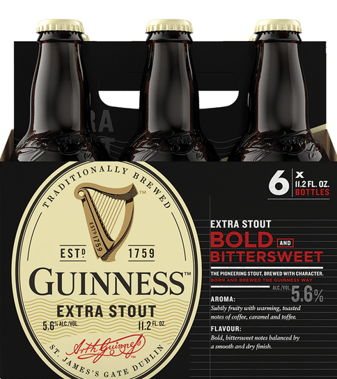 Guinness Extra Stout - 11.2oz. Bottle - East Side Grocery