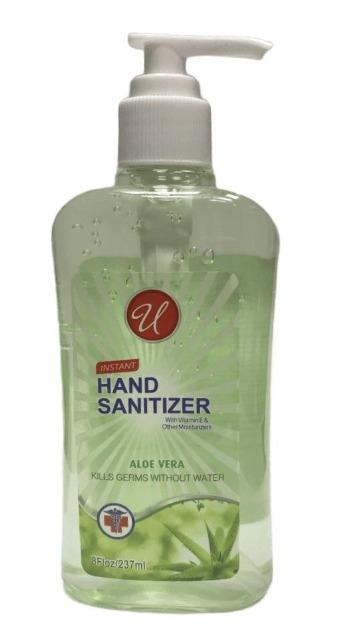 U Hand Sanitizer 8oz.