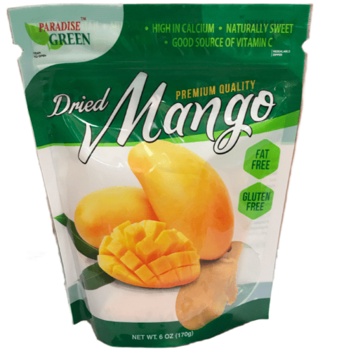 Paradise Green Dried Mango 6oz. - East Side Grocery