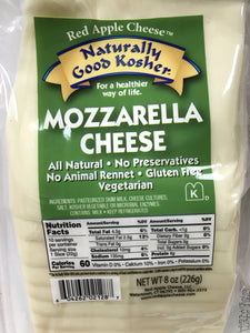 Naturally Kosher Mozzarella Sliced Cheese 8oz. - East Side Grocery