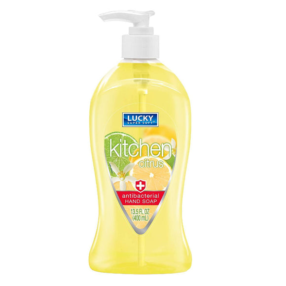 Lucky Antibacterial Hand Soap Citrus 13.5oz. - East Side Grocery