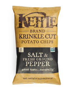 Kettle Chips Krinkle Cut Salt & Pepper  5oz. - East Side Grocery