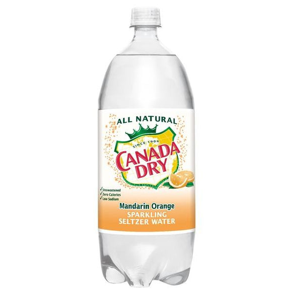 Canada Dry seltzer Mandarin Orange 1 Liter - East Side Grocery